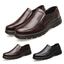 Men Work Shoes Faux Leather Flat Business Office Male Loafer Formal Shoes 1Pair