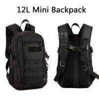 12L 900D Mini Tactical Molle Rucksack Bag Tactical Outdoor Hiking Backpack Black