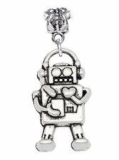 Robot Heart Electronic Toy Hobby Dangle Charm fits Silver European Bead Bracelet