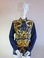 MINT Auth Hermes 'Le Mors a la Conetable' scarf Sz S Silk Long LS Shirt Blouse