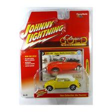Volkswagen Super Beetle convertible 1975 1/64 Johnny Lightning (yellow)