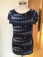 Aldo Martins Knitted Top Size 18 BNWT Navy, Blue, Winter White RRP £98 NOW £29