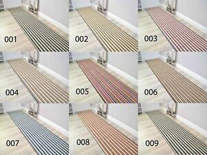 Extra Long Wide Stripe Hall Hallway Corridor Very Narrow Floor Carpets Rug Cheap