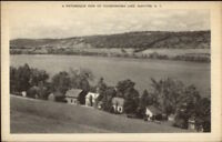 DeRuyter NY Homes on Tioughnioga Lake Old Postcard