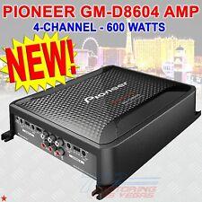 PIONEER GM-D8604 600 W / 4-CHANNEL BRIDGEABLE CLASS D FULL RANGE AMPLIFIER NEW!