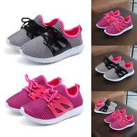 Kids Boys Girls Flyknit Mesh Sneakers Running Hiking Casual Children Shoes SIZE