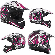 NEW XXL Kimpex CKX TX529 Off Road Motocross Helmet Leak Pink Black #1956