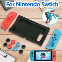 For Nintendo Switch Controller Silicone Protective Skin Case Cover + Thumb Grips