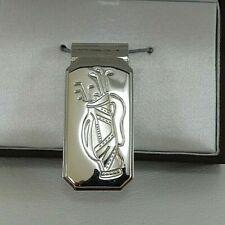 Silver golfing Wallet/Money Clip JK0623