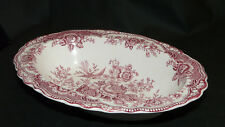 Crown Ducal England Bristol rot 762055 Schale oval Brotkorb 24,5x18x5 cm (LxBxH)