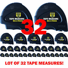32 pc 8m x 25mm Heavy Duty Measuring Tape with Rugged Case [Metric Tape Measure]