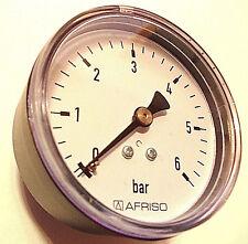 "Manometer 1/4"" Anschluss axial Afriso 0-6 bar Wasser 63mmø ohne Versandkosten"
