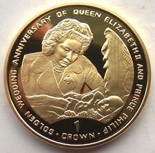 Gibraltar 1997 Prince Philip Crown Gild Silver Coin,Proof