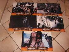 set 5 fotobuste originali LA MALEDIZIONE DELLA PRIMA LUNA JOHNNY DEPP pirati