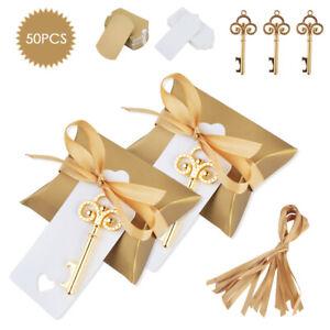 50Pcs Wedding Bronze Key Bottle Opener Favour Party Xmas Rustic Decor Gift