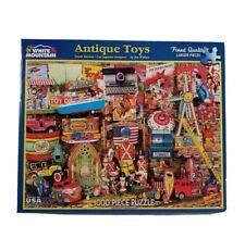 "White Mountain Puzzle ANTIQUE TOYS #1180 1000 Pieces 24""x30""  Complete"
