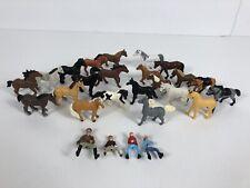 "Safari Toys Horses & Riders Good Luck Mini's 2"" Lot Of 26 Pieces"