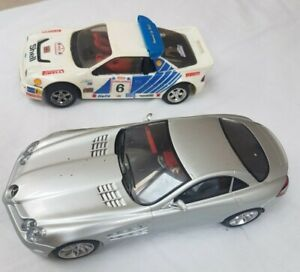 Two Scalextric Cars - 1989 Ford RS200 and a Mclaren Mercedes - 1:32 scale