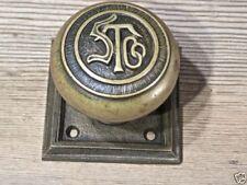 old Door knob square back plate bronze STCo monogram Rockland RHC rat rod shift
