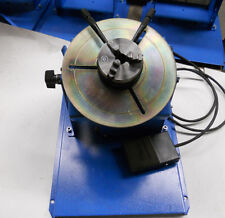 New 2~10RPM 10KG Light Duty Welding Positioner Turntable with 65mm 3 Jaw Chuck