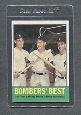 1963 Topps #173 Bombers' Best (Mantle, Richardson)   Ex   (Flat Rate Shipping)