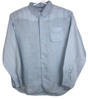 Tommy Bahama Relax Mens Button Down Shirt 100% Linen Size XLarge Light Blue