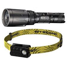 Nitecore SRT7GT Flashlight -1000Lm & NU20 Rechargeable Headlamp -360Lm