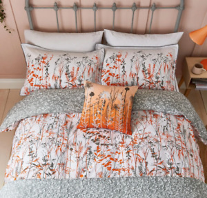 Clarissa Hulse Prairie Orange 100% Cotton KING Duvet cover Set (2 P/cases) NEW