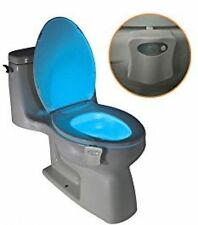 D01 Toilet Light Nightlight w/ Motion Activated Sensor Glow In The Dark 8 Colors