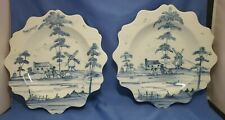 """juliska Williamsburg Reserve Collection blue & white porcelain dishes 10"""""""