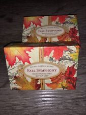2 MICHEL DESIGN WORKS FALL SYMPHONY BAR BATH SOAPS  4.5 OZ BOXED New