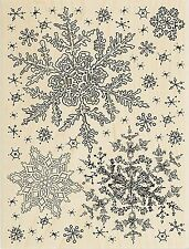 Winter Snowflake Sky Wood Mounted Rubber Stamp STAMPENDOUS R234 New