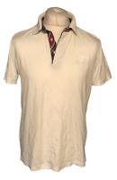 HUGO BOSS ORANGE Men's Polo T Shirt White Large 100% Cotton S/S