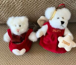 "Boyds Bears 5"" TLC Sparkleheart w/Tags and 5"" Cassandra C. Angelflight Ornament"