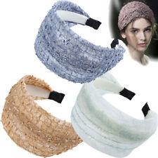 Women's Lace Headband Wide Hairband Fabric Hair Band Hoop Accessories Headwear