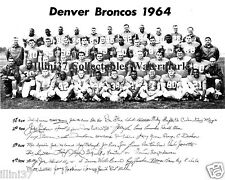 1964 DENVER BRONCOS AFL FOOTBALL 8X10 TEAM PHOTO PICTURE