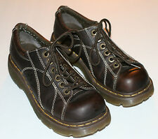 Pre-Worn Unisex Doc Martens Brown/Floral Tool Lace-Up Oxfords UK sz 6, M 7, W 8