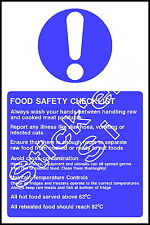 Food safety check list  - FOOD0025 Sticker & Sign