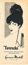 PUBLICITE ADVERTISING  1960   GERMAINE MONTEIL  cosmétiques FAROUCHE