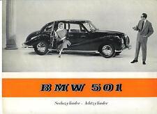 BMW   Folder  501  6 & 8 Cylinder Sedan  1956