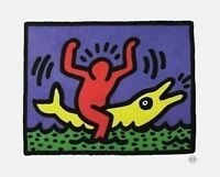 Untitled (Pop Shop Dolphin), 1992 Offset Lithograph, Keith Haring