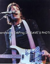 Signed Paul McCartney 8X10 Color RP Photo w/coa Free Shipping