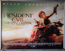 Cinema Poster: RESIDENT EVIL THE FINAL CHAPTER 2017 (Quad) Milla Jovovich