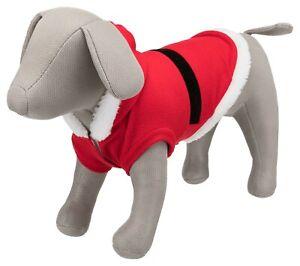 Trixie Dog Pup Christmas Santa Coat soft fleece with hook & loop fastener & hood
