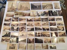 RARE Antique 1800s Lot of 61 Sepia Photo Rome Castle Palace Street Rommler Jonas