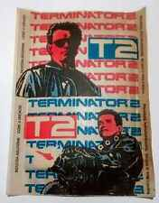 5 ENVELOPES STICKERS TERMINATOR 2 FROM ARGENTINA  1992