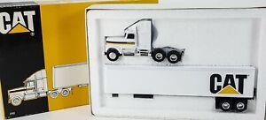 Ertl Caterpillar Die-Cast Metal Cab w Trailer 7712 Semi Truck 1:64 Vintage 1989