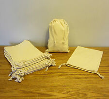 """1 NEW COTTON MUSLIN BAG WITH DRAWSTRINGS 8"""" BY12"""" BATH SOAP HERBS QUALITY BAGS"""