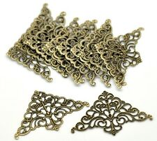 FilIgree Corner Ornate Decorate Bronze Flatback Metal Embellishments - 6 Pack