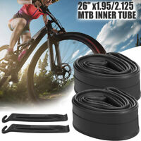 "2Pack 26"" x1.95/2.125 Bicycle Inner Tubes Schrader Valve for Mountain Bike Tire"